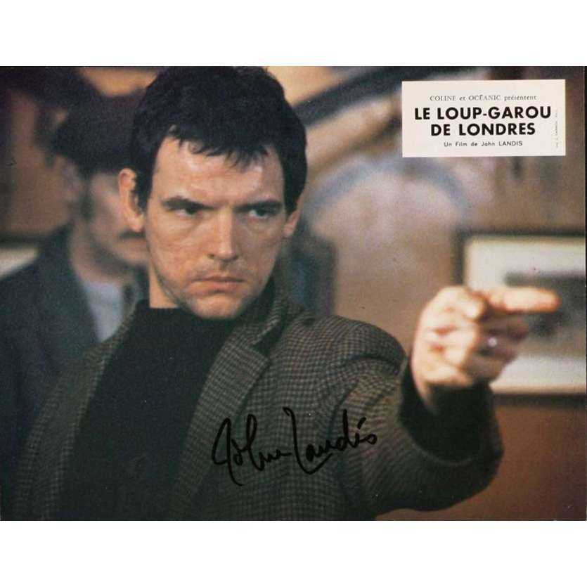 JOHN LANDIS signed French LC '81 a scene from An American Werewolf in London!