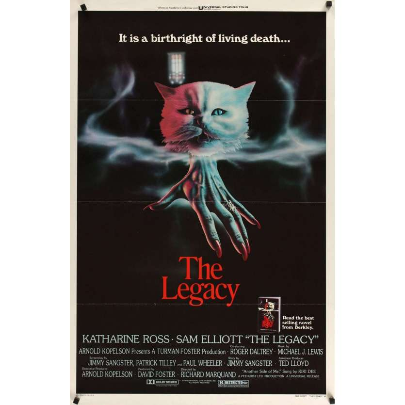 LEGACY style B 1sh Movie Poster '79 Katharine Ross, Sam Elliot