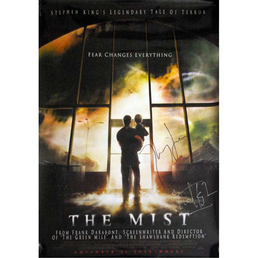 THE MIST Affiche signée par le casting ! '07 Franck Darabont Signed Original Movie poster