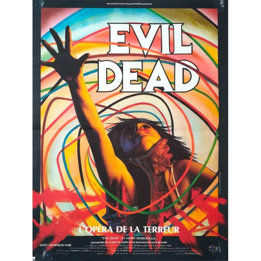 THE EVIL DEAD Original Movie Poster - 15x21 in. - 1981 - Sam Raimi, Bruce Campbell