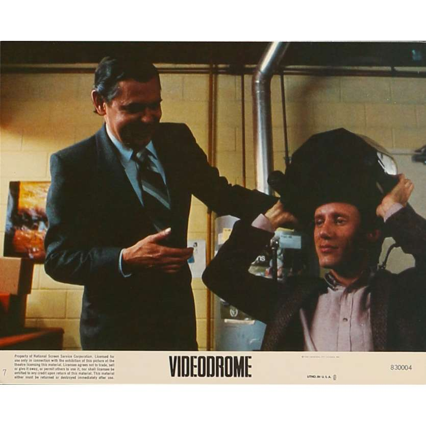 VIDEODROME Original Lobby Card N7 - 8x10 in. - 1983 - David Cronenberg, James Woods