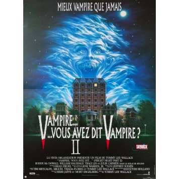 FRIGHT NIGHT PART II Original Movie Poster - 15x21 in. - 1988 - Tommy Lee Wallace, Roddy McDowall