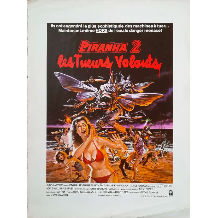 PIRANHA 2 LES TUEURS VOLANTS Synopsis - 21x30 cm. - 1981 - Lance Henriksen, James Cameron