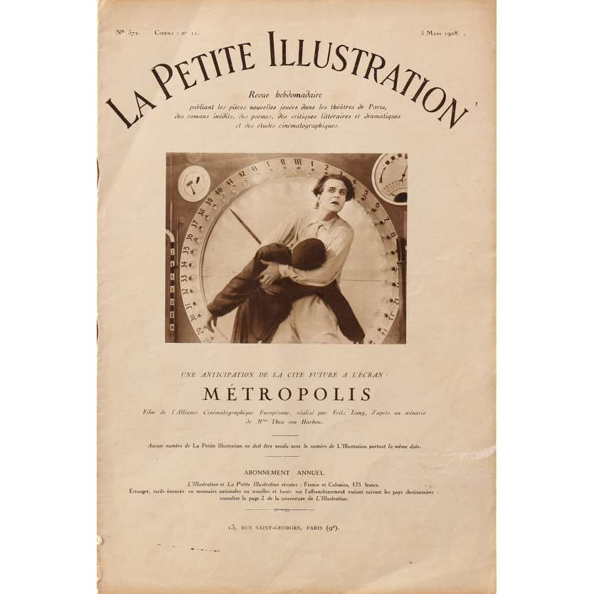 METROPOLIS Original Magazine N1 - 9x12 in. - 1927 - Fritz Lang, Brigitte Helm