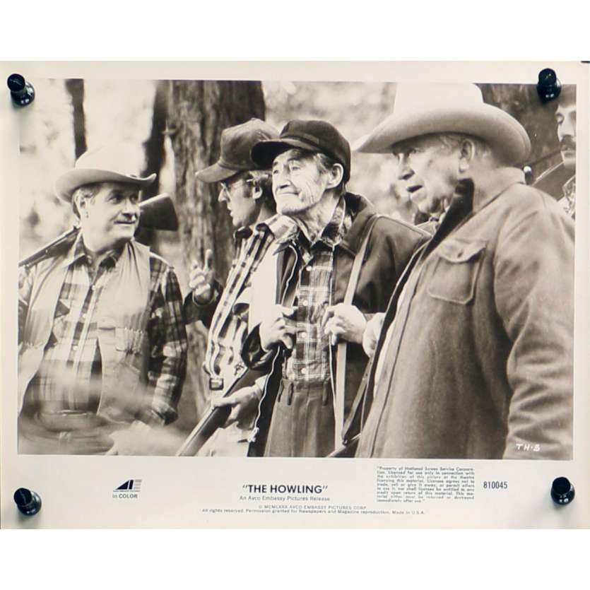 HURLEMENTS Photo de presse TH-5 - 20x25 cm. - 1981 - Patrick McNee, Joe Dante