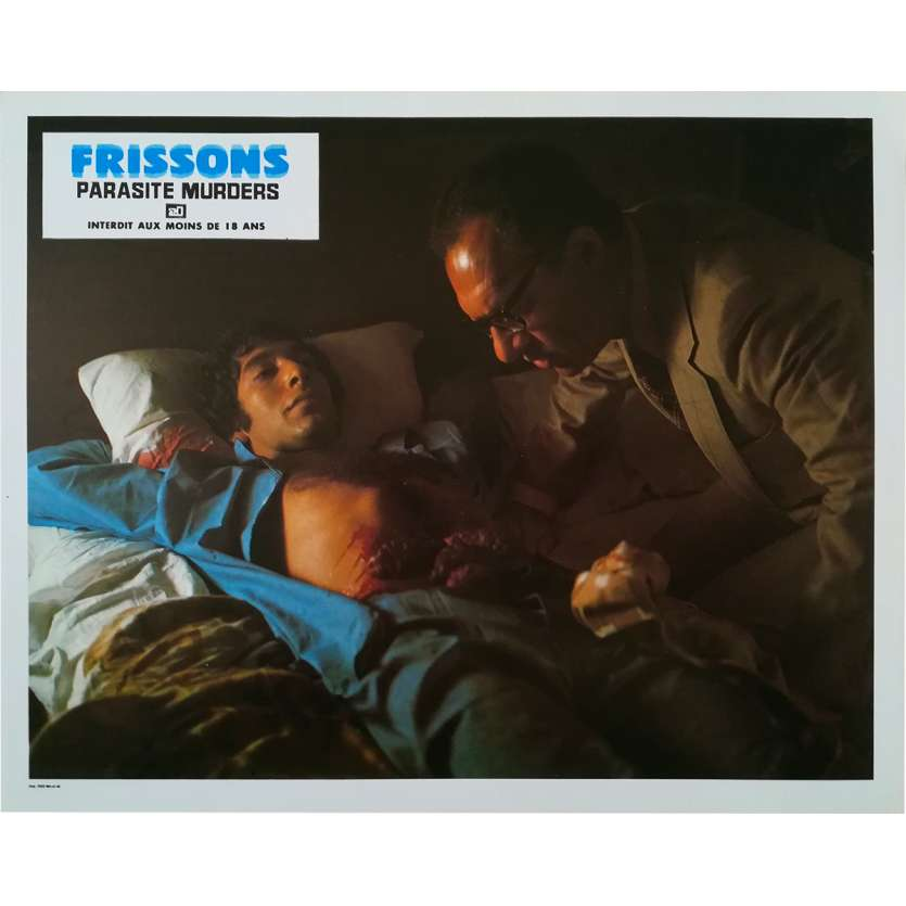 FRISSONS Photo de film N1 - 21x30 cm. - 1975 - Paul Hampton, David Cronenberg