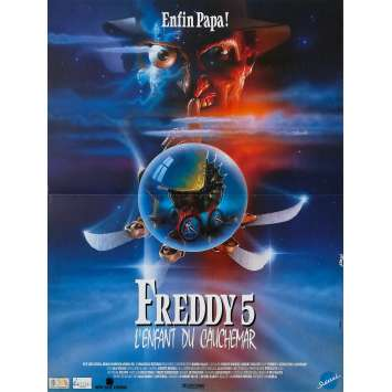 FREDDY 5 L'ENFANT DU CAUCHEMAR Affiche de film - 40x60 cm. - 1989 - Robert Englund, Stephen Hopkins