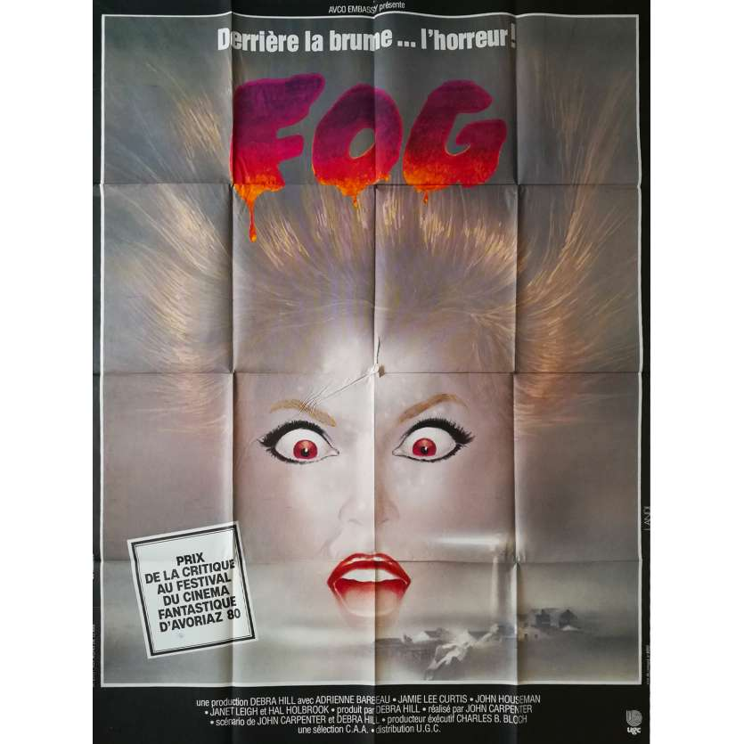 FOG Affiche de film - 120x160 cm. - 1979 - Jamie Lee Curtis, John Carpenter