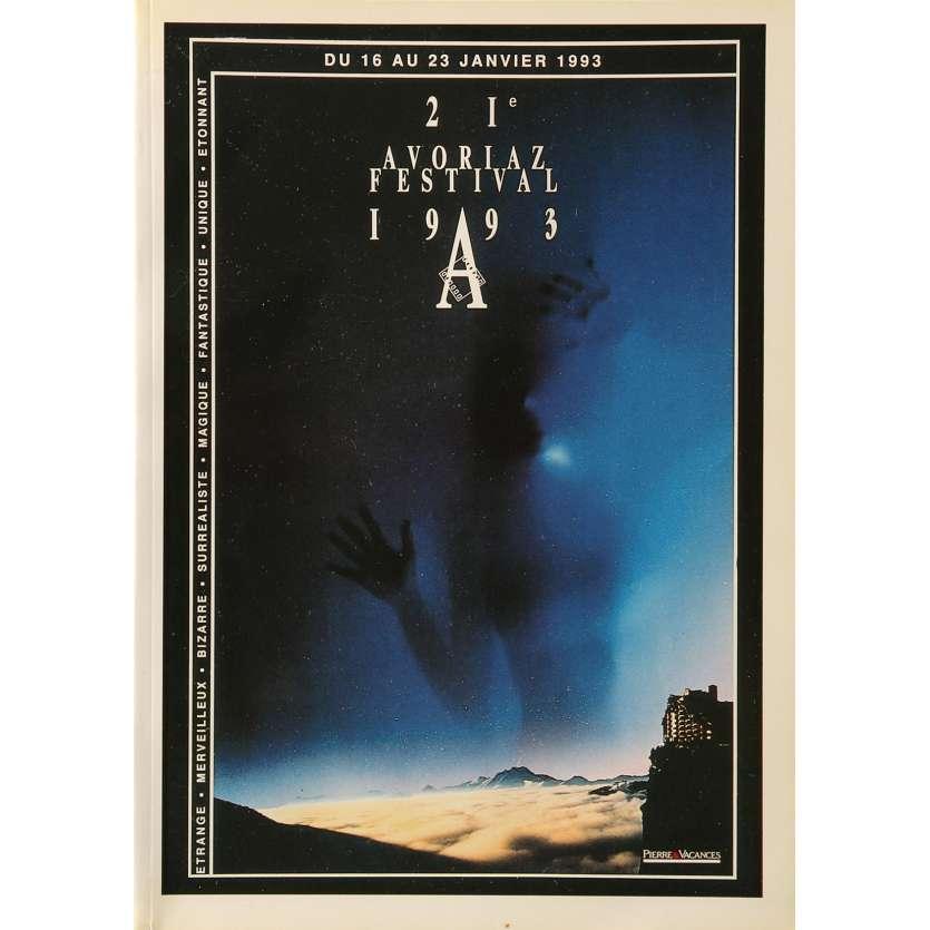 FESTIVAL AVORIAZ Original Program - 9x12 in. - 1993 - 0, 0