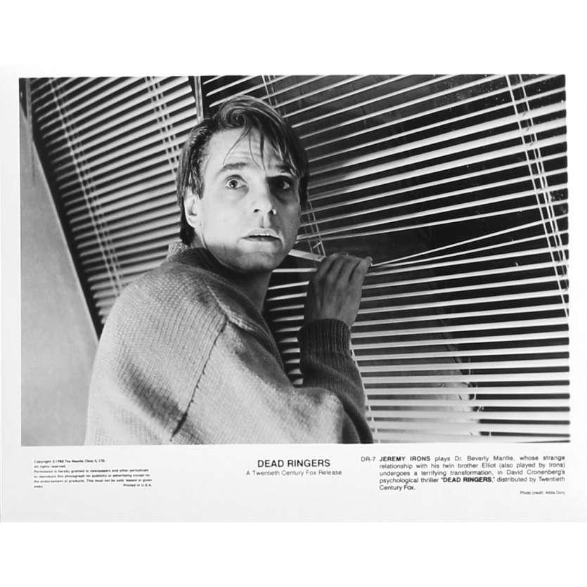 FAUX SEMBLANTS Photo de presse DR-7 - 20x25 cm. - 1988 - Jeremy Irons, David Cronenberg