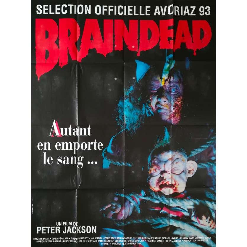 BRAINDEAD Affiche de film - 120x160 cm. - 1992 - Timothy Balme, Peter Jackson