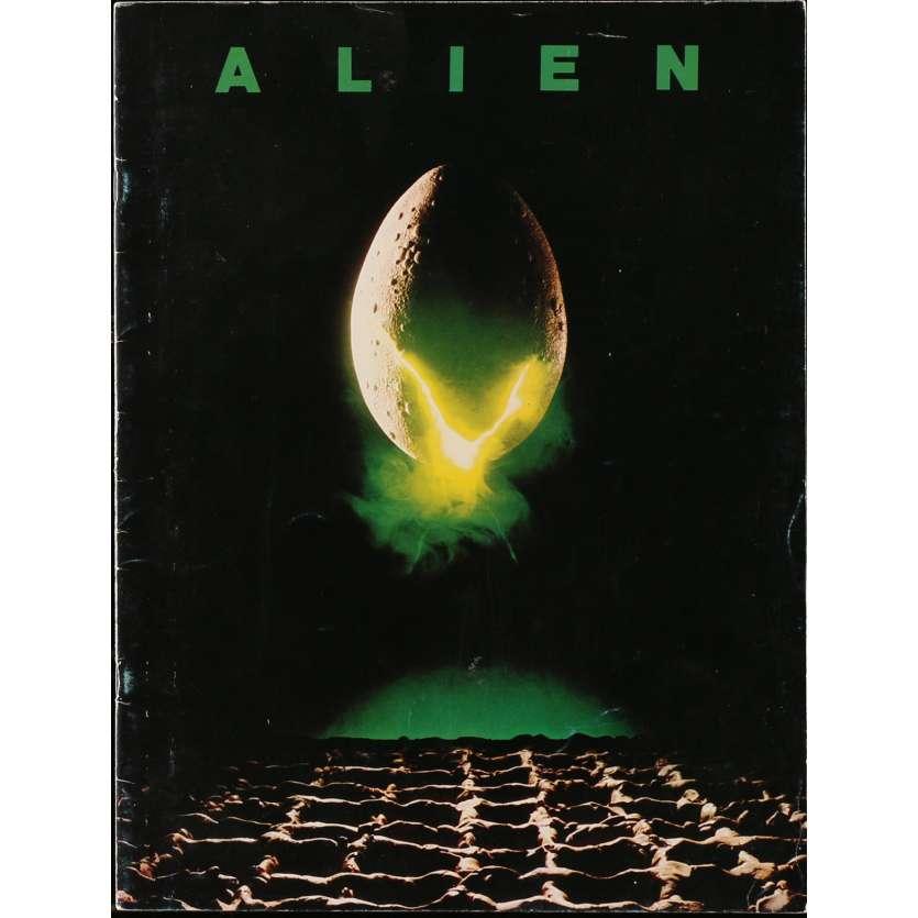 ALIEN Movie Program 9x12 in. - 1979 - Ridley Scott, Sigourney Weaver