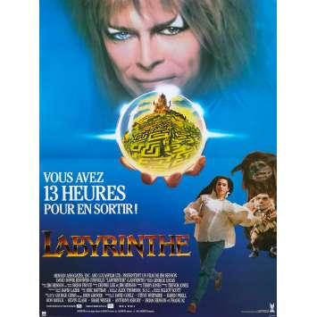 LABYRINTH Original Movie Poster - 15x21 in. - 1986 - Jim Henson, David Bowie