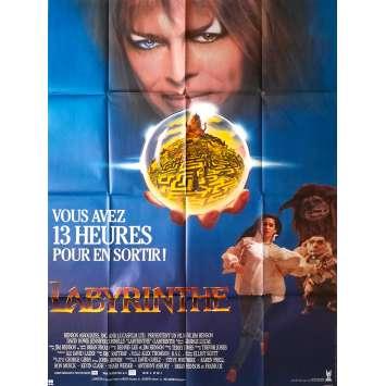 LABYRINTH Original Movie Poster - 47x63 in. - 1986 - Jim Henson, David Bowie