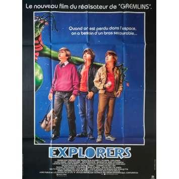 EXPLORERS Original Movie Poster - 47x63 in. - 1985 - Joe Dante, Ethan Hawke