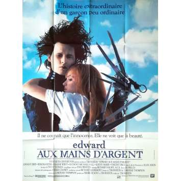 EDWARD SCISSORHANDS Original Movie Poster - 47x63 in. - 1992 - Tim Burton, Johnny Depp