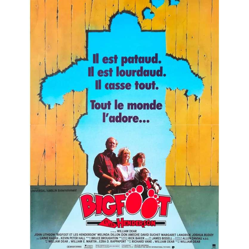 BIGFOOT ET LES HENDERSON Affiche de film - 40x60 cm. - 1987 - John Lithgow, William Dear