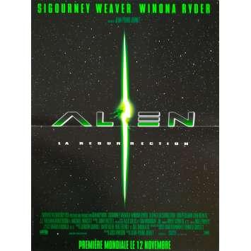 ALIEN RESURRECTION Original Movie Poster - 15x21 in. - 1997 - Jean-Pierre Jeunet, Sigourney Weaver