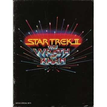 STAR TREK 2 LA COLERE DE KHAN Programme - 21x30 cm. - 1982 - Leonard Nimoy, Nicholas Meyer