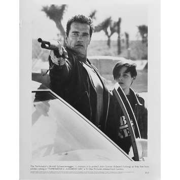 TERMINATOR 2 Photo de presse N13 - 20x25 cm. - 1992 - Arnold Schwarzenegger, James Cameron