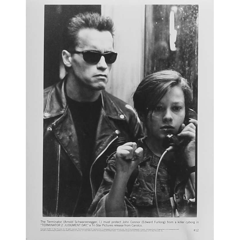 TERMINATOR 2 Photo de presse N12 - 20x25 cm. - 1992 - Arnold Schwarzenegger, James Cameron