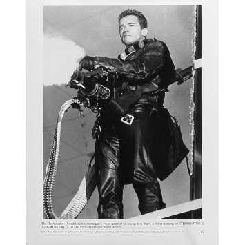 TERMINATOR 2 Photo de presse N2 - 20x25 cm. - 1992 - Arnold Schwarzenegger, James Cameron