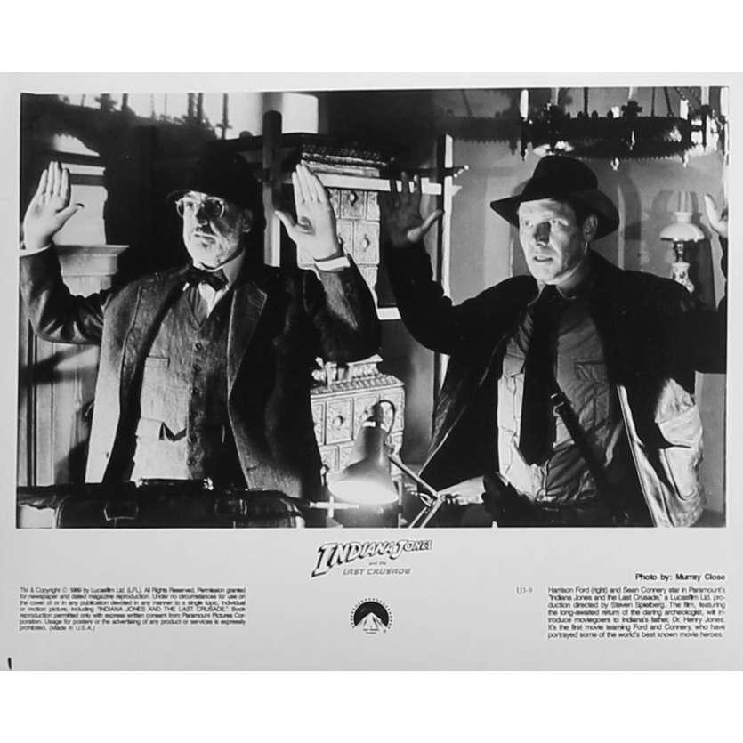 INDIANA JONES ET LA DERNIERE CROISADE Photo de presse IJ3-9 - 20x25 cm. - 1989 - Harrison Ford, Steven Spielberg
