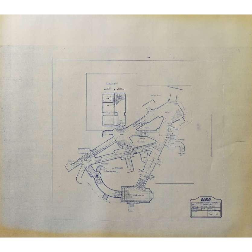 DUNE Original Blueprint - Arakeen No:14/2 - 21x24-26 in. - 1982, David Lynch