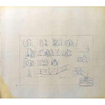 DUNE Blueprint - Arakeen No:14/4 - 45x55/60 cm. - 1982, David Lynch