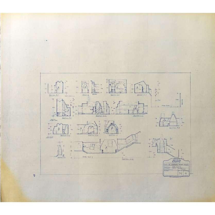 DUNE Original Blueprint - Arakeen No:14/4 - 21x24-26 in. - 1982, David Lynch
