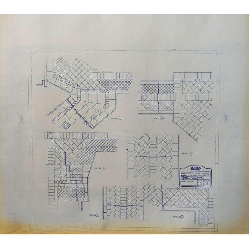 DUNE Original Blueprint - Arakeen No:15/11 - 21x24-26 in. - 1982, David Lynch