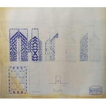 DUNE Blueprint - Arakeen No:15/13 - 45x55/60 cm. - 1982, David Lynch