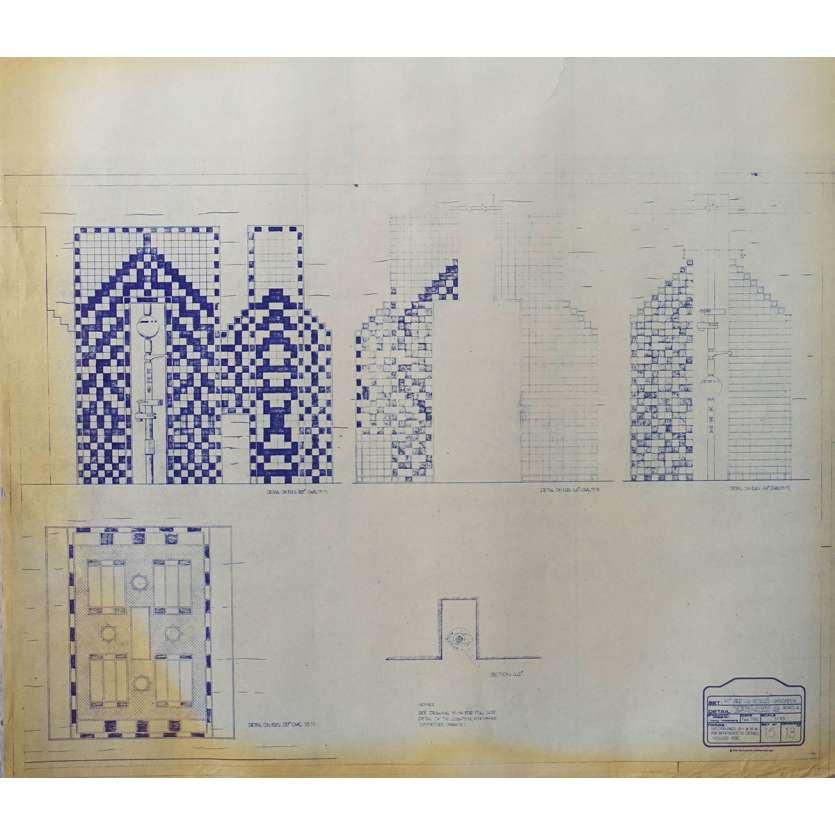 DUNE Original Blueprint - Arakeen No:15/13 - 21x24-26 in. - 1982, David Lynch