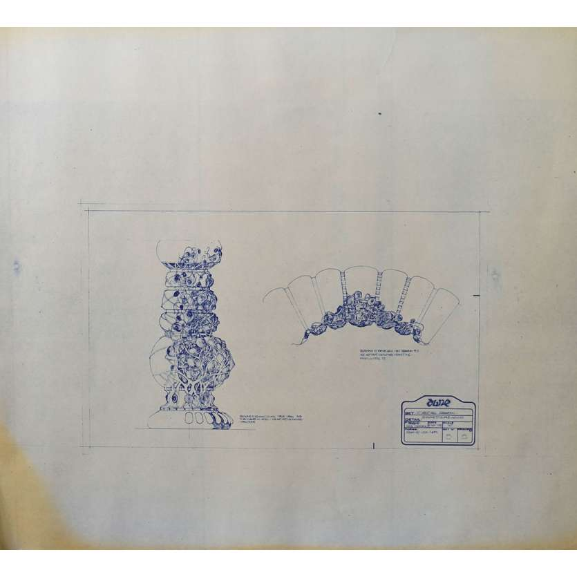 DUNE Original Blueprint - Arakeen No:15/15 - 21x24-26 in. - 1982, David Lynch