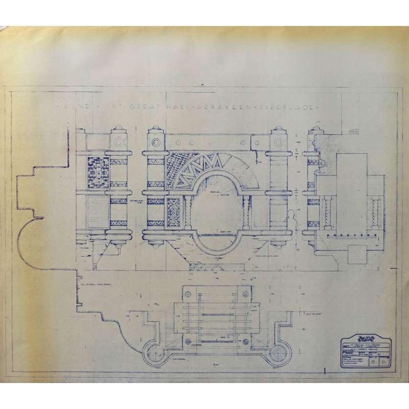 DUNE Blueprint - Arakeen No:15/6 - 45x55/60 cm. - 1982, David Lynch