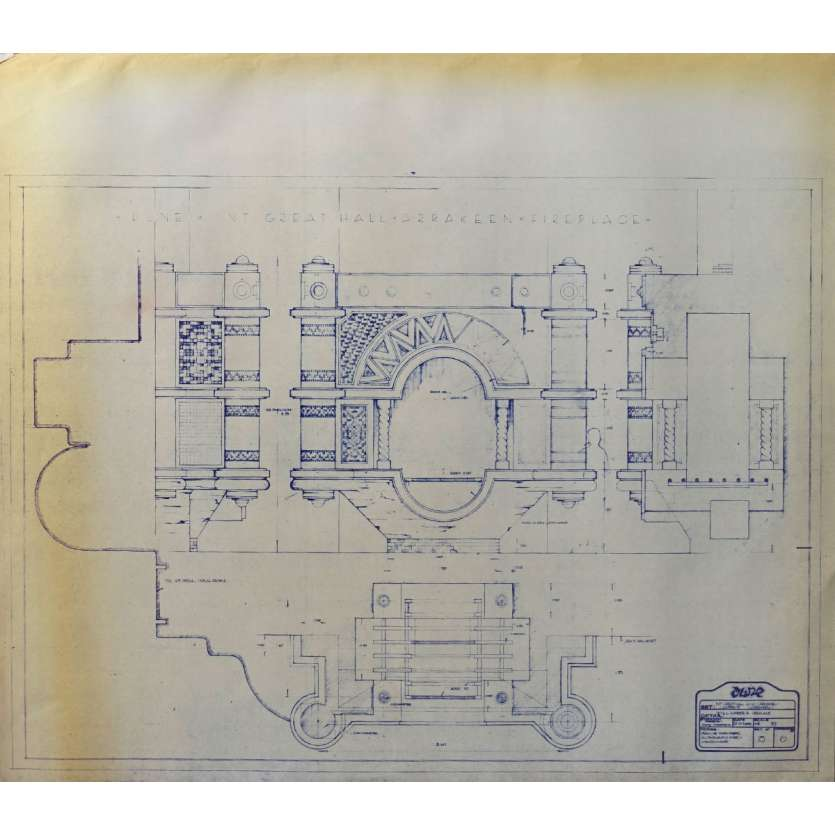 DUNE Original Blueprint - Arakeen No:15/6 - 21x24-26 in. - 1982, David Lynch