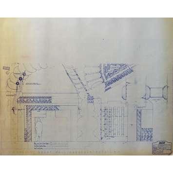 DUNE Original Blueprint - Arakeen No:15/7 - 21x24-26 in. - 1982, David Lynch