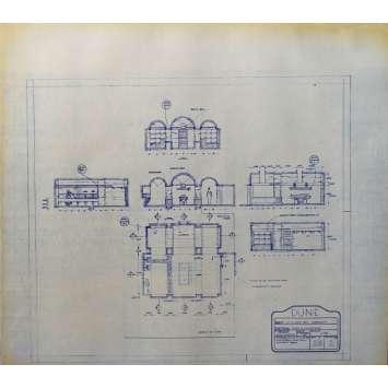 DUNE Blueprint - Arakeen No:16/1 - 45x55/60 cm. - 1982, David Lynch