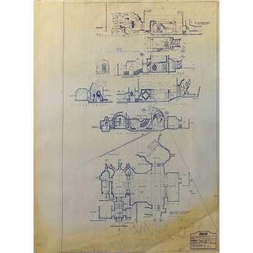 DUNE Original Blueprint - Arakeen No:38/1 - 21x24-26 in. - 1982, David Lynch