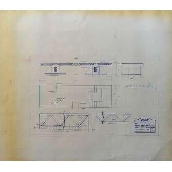 DUNE Original Blueprint - Arakeen No:38/SD1 - 21x24-26 in. - 1982, David Lynch