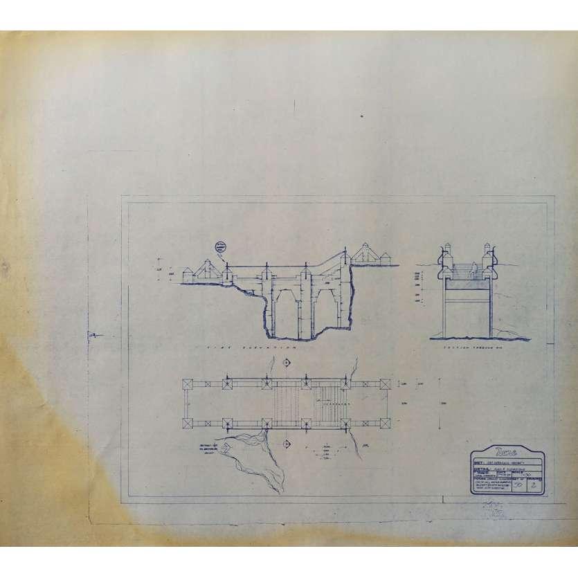 DUNE Original Blueprint - Arakeen No:Ext/50/2 - 21x24-26 in. - 1982, David Lynch