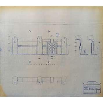 DUNE Blueprint - Arakeen No:Ext/56/1 - 45x55/60 cm. - 1982, David Lynch