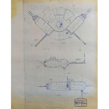 DUNE Original Blueprint - Arakeen No:Ext/M15/1 - 21x24-26 in. - 1982, David Lynch