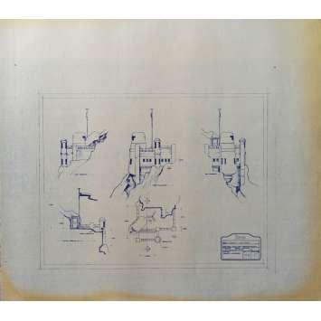DUNE Original Blueprint - Arakeen No:Ext/M15/5 - 21x24-26 in. - 1982, David Lynch