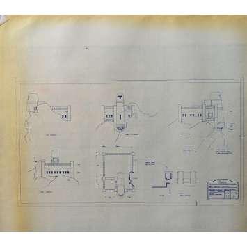 DUNE Original Blueprint - Arakeen No:Ext/M15/6 - 21x24-26 in. - 1982, David Lynch
