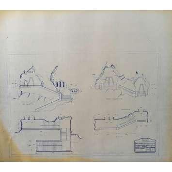 DUNE Blueprint - Arakeen No:Ext/M15/7 - 45x55/60 cm. - 1982, David Lynch