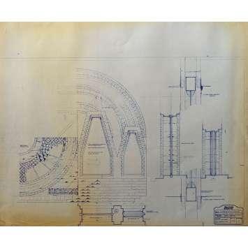 DUNE Original Blueprint - Arakeen No:Int/38/4 - 21x24-26 in. - 1982, David Lynch