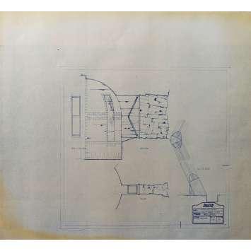 DUNE Original Blueprint - Arakeen No:Int/38/5 - 21x24-26 in. - 1982, David Lynch