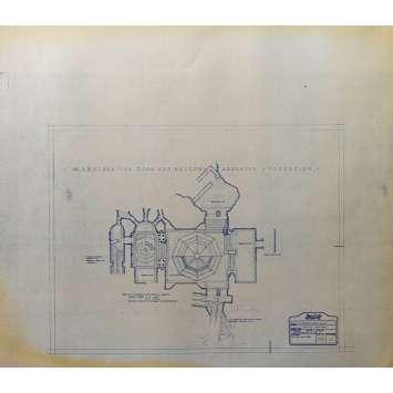 DUNE Original Blueprint - Arakeen No:Int/38/6 - 21x24-26 in. - 1982, David Lynch