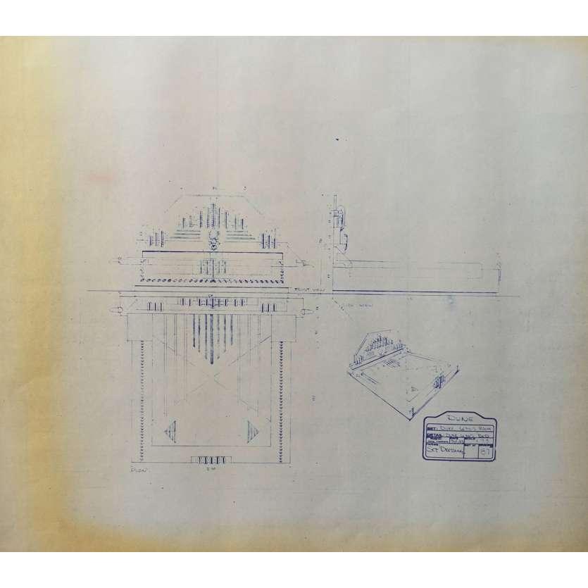 DUNE Original Blueprint - Arakeen No:NA/87 - 21x24-26 in. - 1982, David Lynch